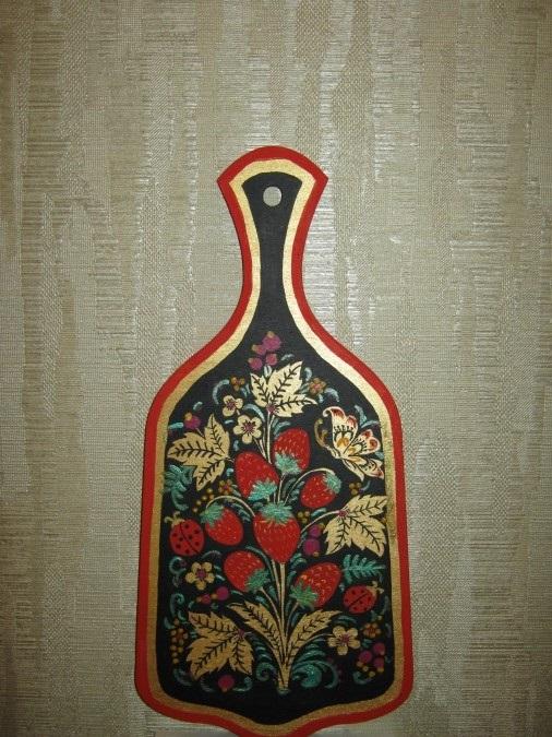 Картинки разделочная доска хохлома   рисунки011