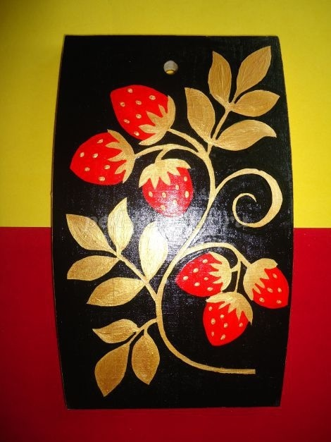 Картинки разделочная доска хохлома   рисунки014