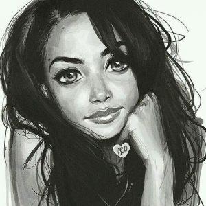 Картинки с девушками рисованными   красивая подборка020