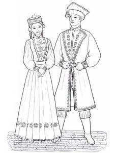 Костюм народов России как нарисовать   подборка020