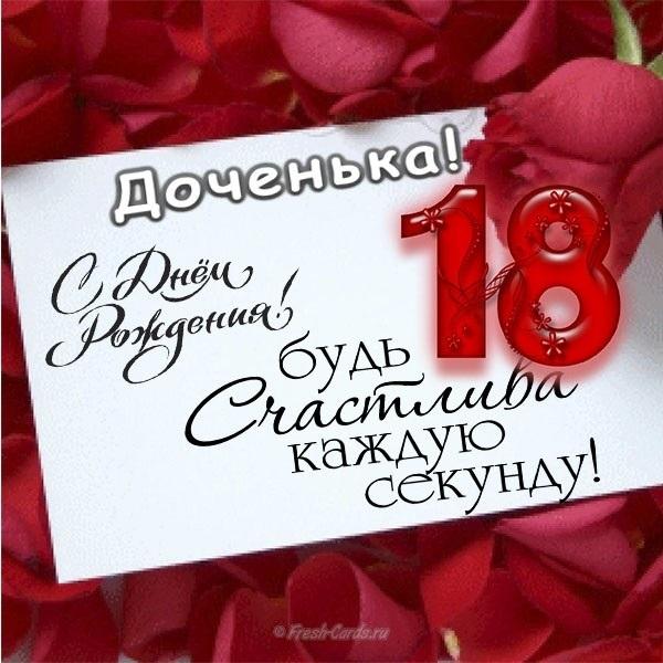 Молодежи открытка, поздравления с днем рождения дочери 18 лет открытка