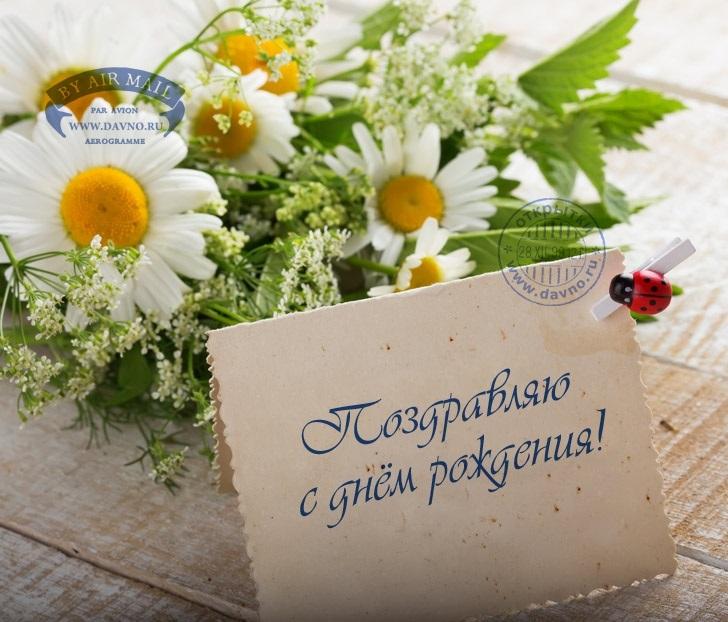 Поздравления с днем рождения с ромашками картинки   очень красивые012