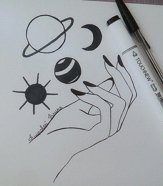 Простые рисунки для срисовки карандашом001