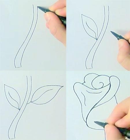 Простые рисунки для срисовки карандашом007