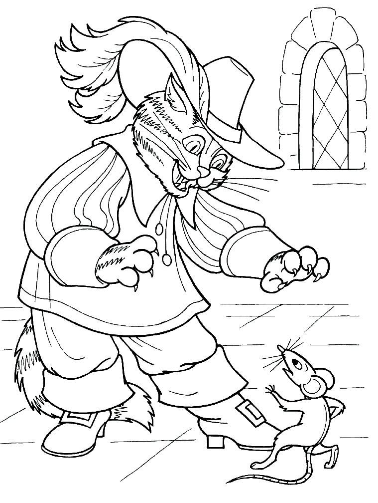 Надписью все, картинки кота в сапогах из сказки шарля перро рисунок