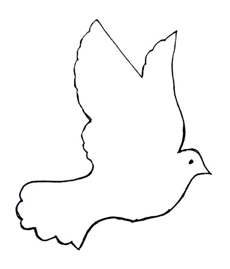 Трафарет голубь мира из бумаги шаблоны для вырезания, прикольные картинки картинки