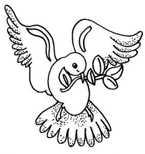 Рисунок голубь мира для детей   картинки020