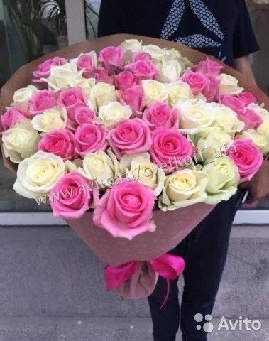 Розы розовые и белые фото   изображения018