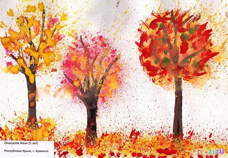 Смотреть рисунки про осень детские   картинки018
