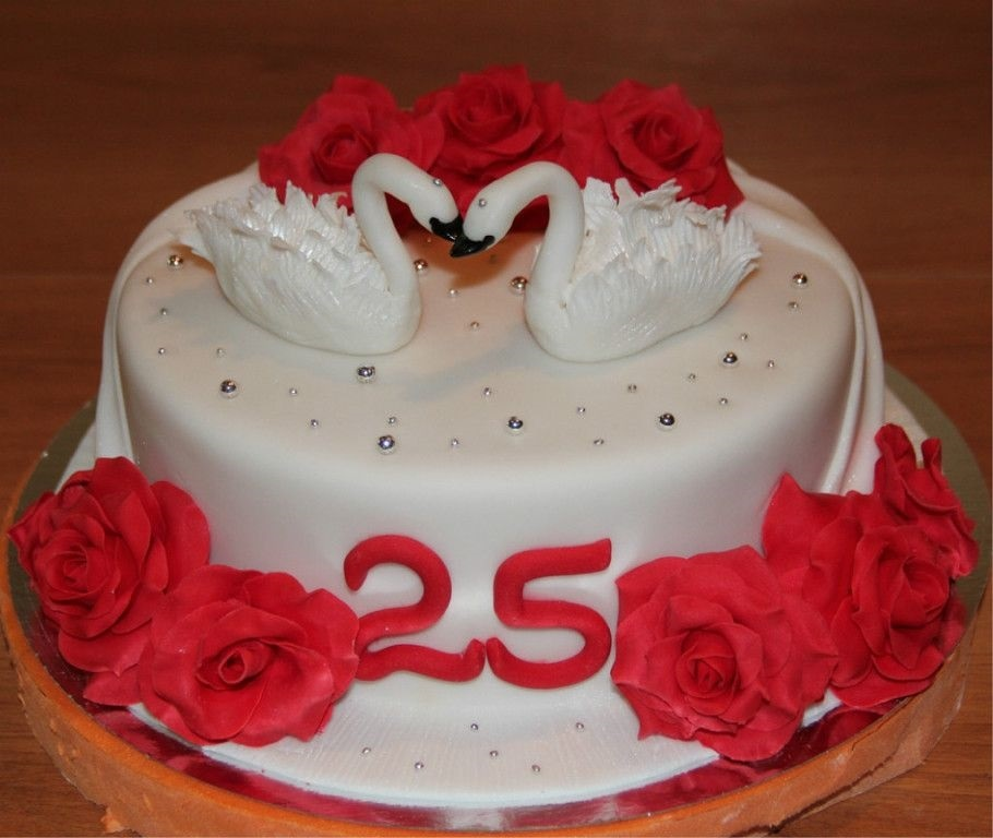 Торт на 15 годовщину свадьбы   красивый001