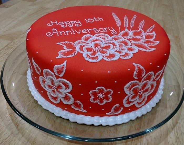 Торт на 15 годовщину свадьбы   красивый002
