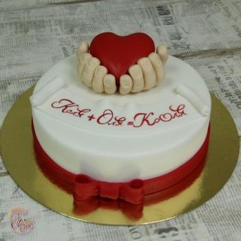 Торт на 15 годовщину свадьбы   красивый004