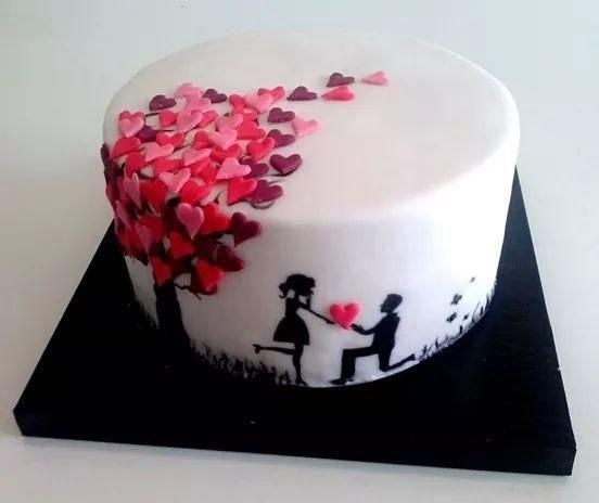Торт на 15 годовщину свадьбы   красивый005