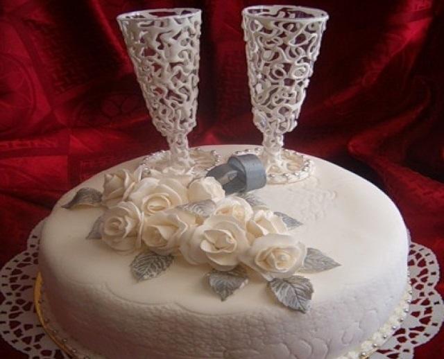 Торт на 15 годовщину свадьбы   красивый007