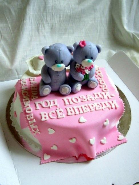 Торт на 15 годовщину свадьбы   красивый009