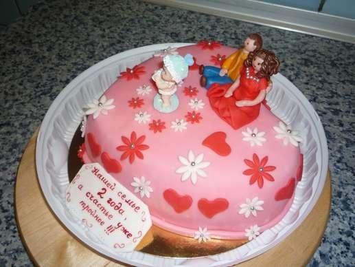 Торт на 15 годовщину свадьбы   красивый010