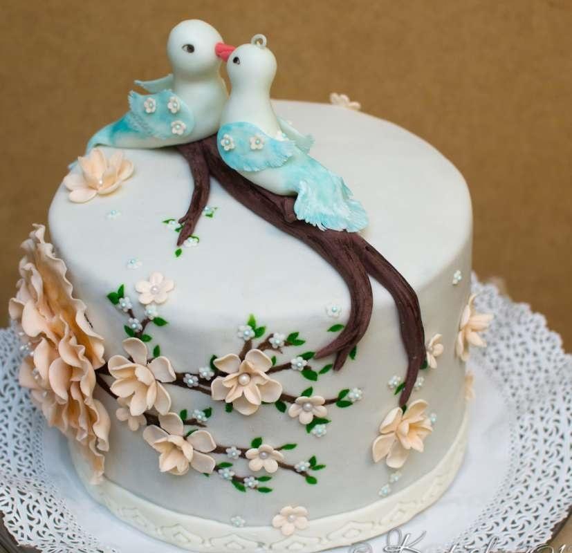 Торт на 15 годовщину свадьбы   красивый011