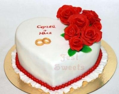Торт на 15 годовщину свадьбы   красивый014