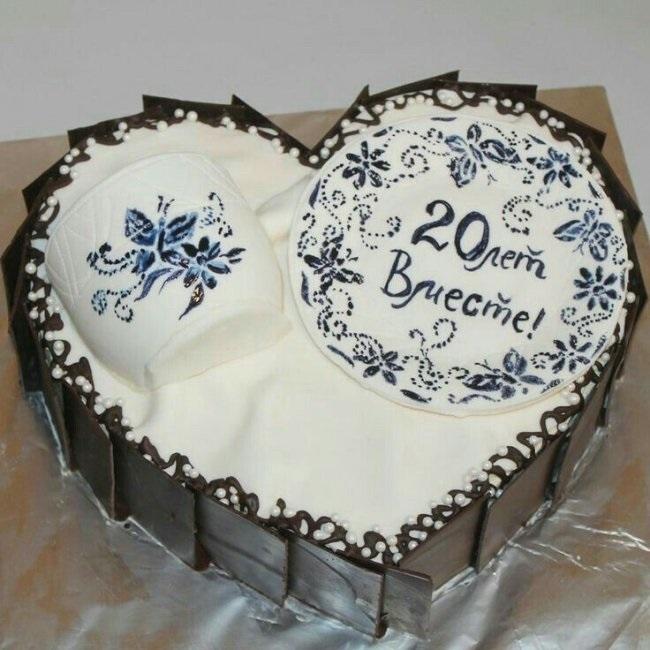 Торт на 15 годовщину свадьбы   красивый016