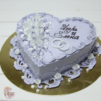 Торт на 15 годовщину свадьбы   красивый018