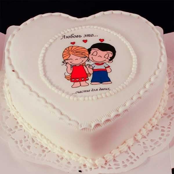 Торт на 15 годовщину свадьбы   красивый019