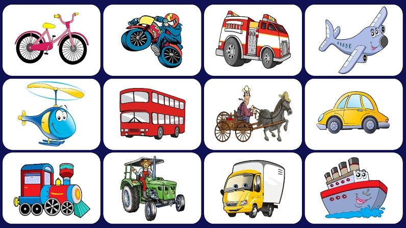 Транспорт для детей в картинках   фото020