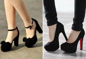 Фото туфли на шпильке черные   красивые001