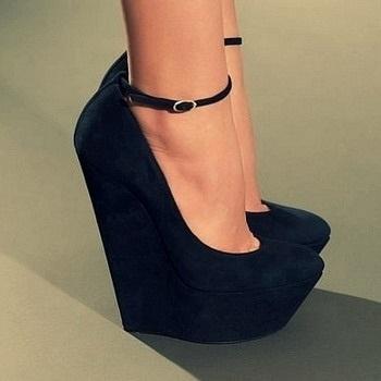 Фото туфли на шпильке черные   красивые008