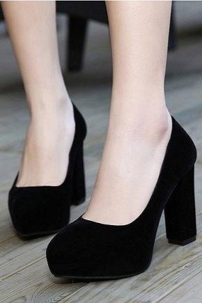 Фото туфли на шпильке черные   красивые015