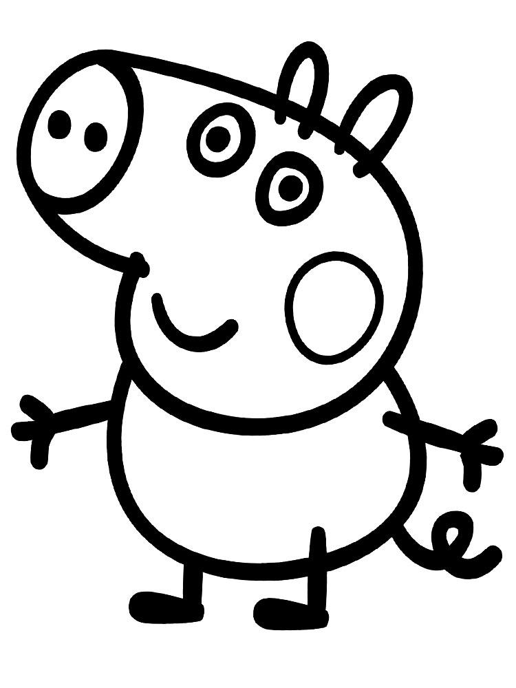 Черно белые картинки свинка пеппа   рисунки001