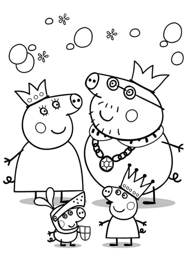 Черно белые картинки свинка пеппа   рисунки002