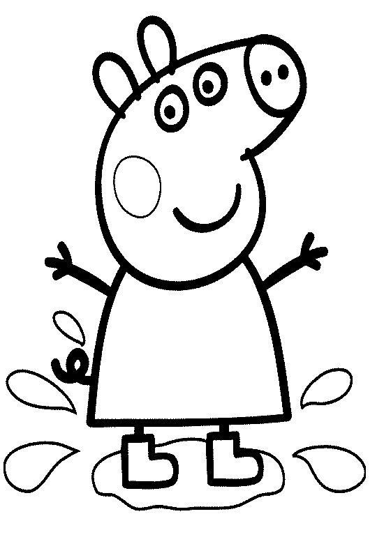 Черно белые картинки свинка пеппа   рисунки005