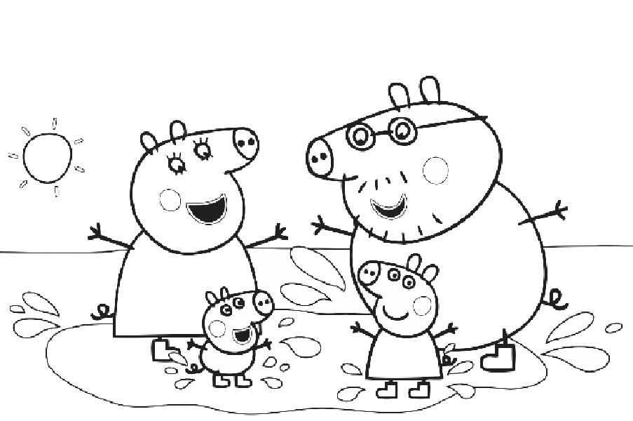 Черно белые картинки свинка пеппа   рисунки008