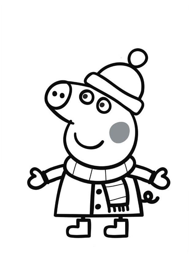 Черно белые картинки свинка пеппа   рисунки013