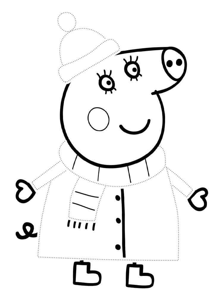 Черно белые картинки свинка пеппа   рисунки015