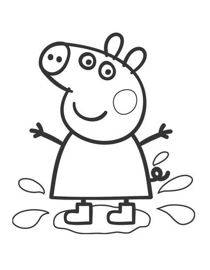Черно белые картинки свинка пеппа   рисунки017