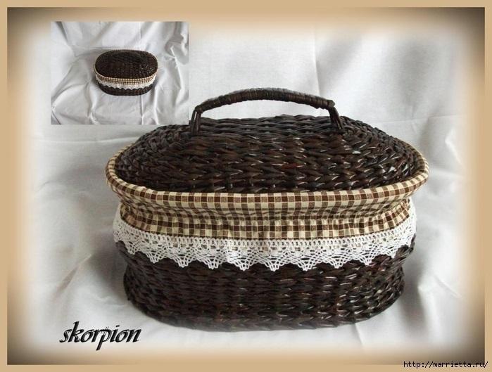 Чешский сайт плетение из газет   подборка001