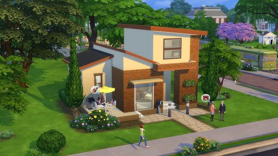 маленькие дома в симс картинки множество