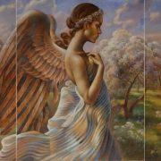 Ангел маслом картина и рисунки (23)