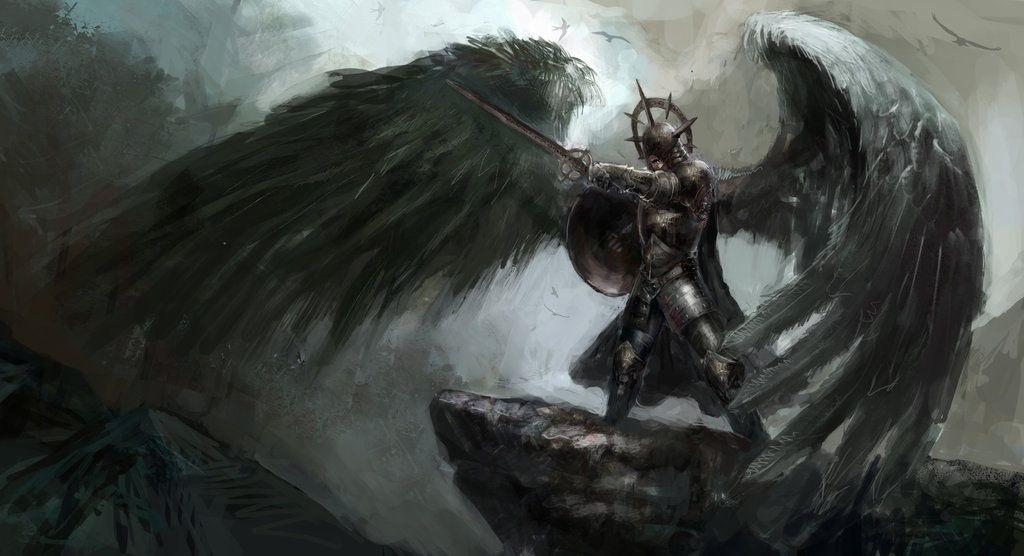 Арты падший ангел023
