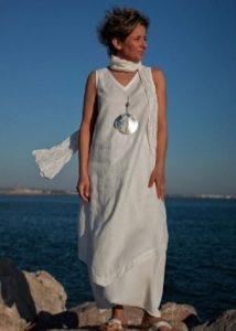 Бохо платья лен021