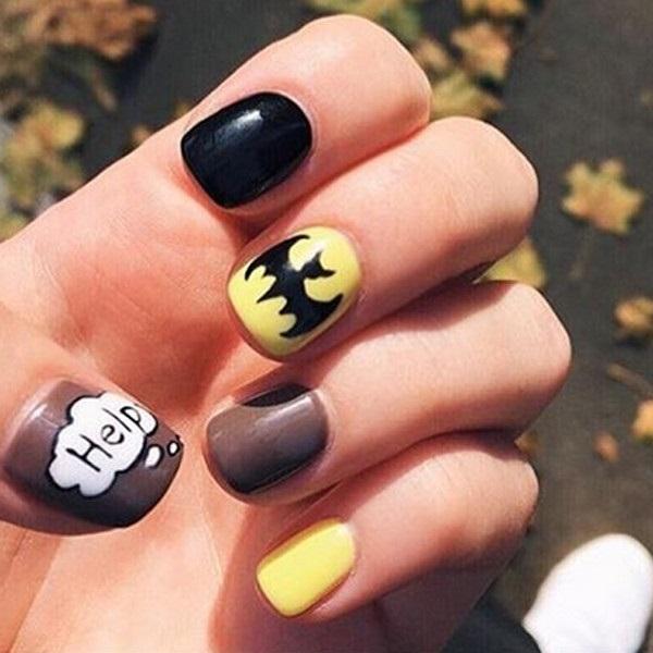 Бэтмен на ногтях фото022