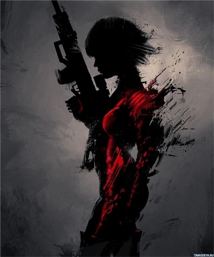 Девушка с пистолетом фото на аву003