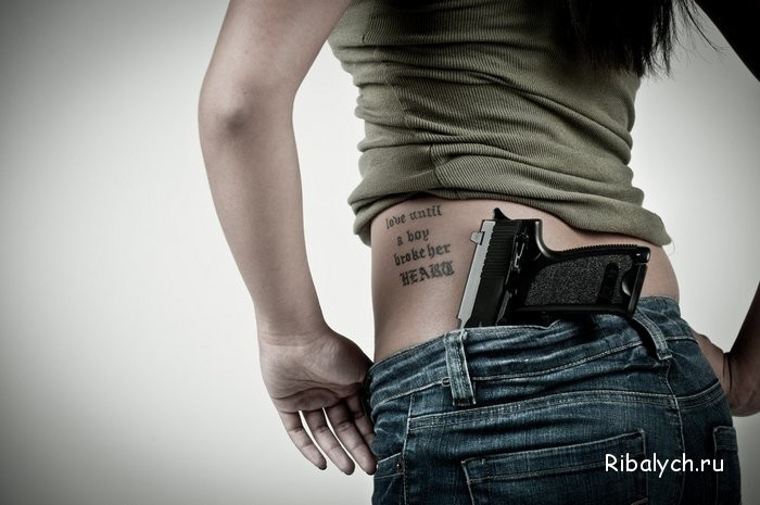 Девушка с пистолетом фото на аву011