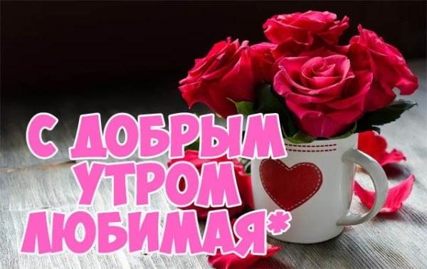 Доброе утро любимая моя девочка открытки031