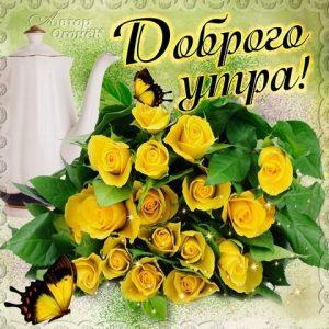 Доброе утро любимая открытки красивые цветы007