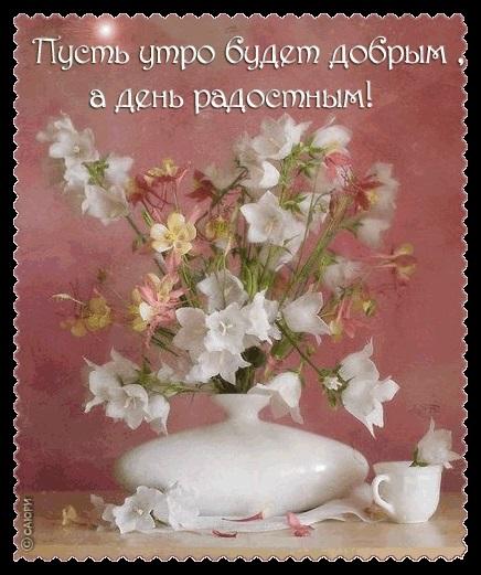 Доброе утро открытки нежные с цветами008