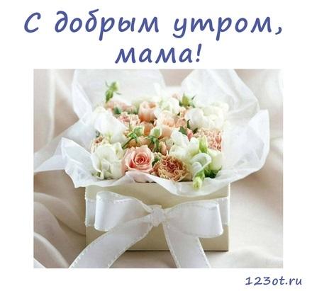 Доброе утро открытки нежные с цветами018
