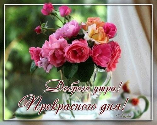 Доброе утро с цветами для женщины005