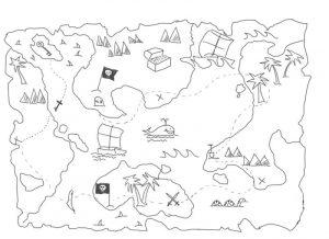 Карта сокровищ раскраски017
